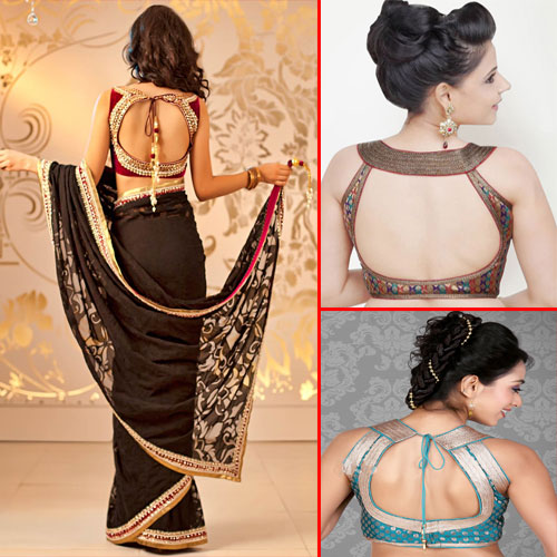 Back Neck Blouse Designs to Look gorgeous, back neck blouse designs to look sexy,  blouse back neck designs to bring sexy back,  hot new trends for designer blouse lovers,  back neck blouse designs latest back neck blouse patterns,  fashion trends 2015,  fashion trends,  fashion tips,  ifairer