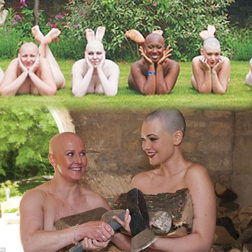 Bald and Nude for charity calendar, bald and nude for charity calendar,  general article,  latest news,  charity calender,  nude and bald models