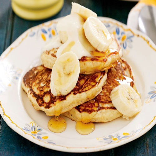 Tasty wholemeal banana pancakes recipe , amazing wholemeal banana pancakes,   recipe,  tasty recipe, healthy banana,  honey,  heath issues,  skin issues