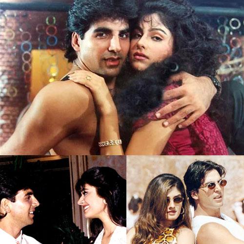 Birthday Special: Akshay's Most Popular Love Affairs, birthday special: akshays most popular love affairs, pooja batra, akshay kumar and ayesha jhulka, akshay  kumar and raveena tandon, akshay kumar and shilpa shetty, akshay kumar and twinkle khanna