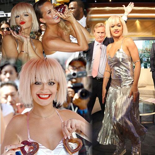 Bizarre metallic dress of Rita Ora, bizarre metallic dress of rita ora,  hollywood news,  hollywood gossips,  latest news,  rita ora,  latest news of rita ora,  ifairer