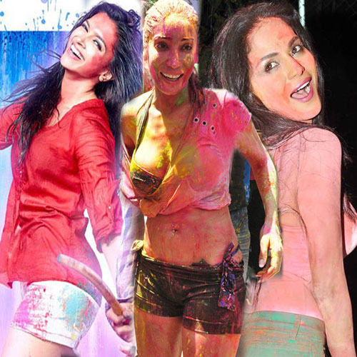 Bollywood Hottie With Holi Colors, bollywood hottie with holi colors,  bollywood,  bollywood news,  bollywood gossip,  latest bollywood updates,  b-town dames sizzling with holi and colors,  ifairer