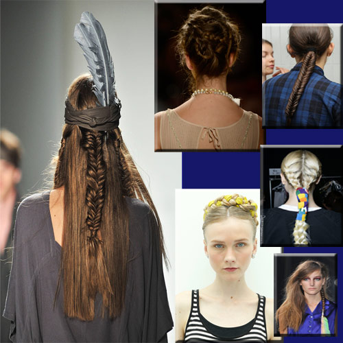 Braids staple from NEW YORK Fashion Week 2014.., new york,  fashion week runway,  braids hair style,  hair style,  western,  modern,  classics,  favorite of designers,  noted down some great braids,  great braids hairstyles,  hairstyles,  fashion unique hairstyles,  braids staple from new york fashion week 2014