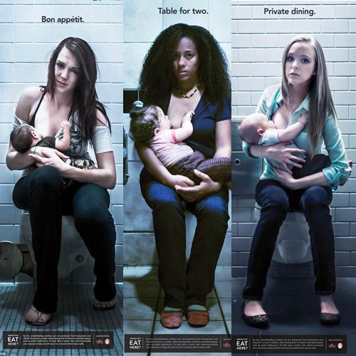 breastfeeding in public bathroom