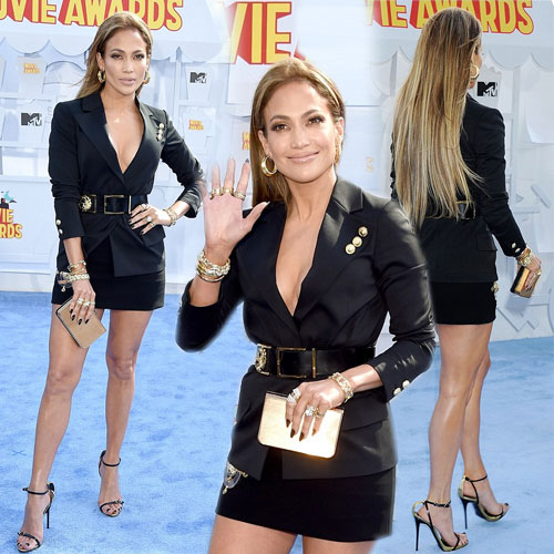 Celebs sizzles in black at MTV Movie Awards