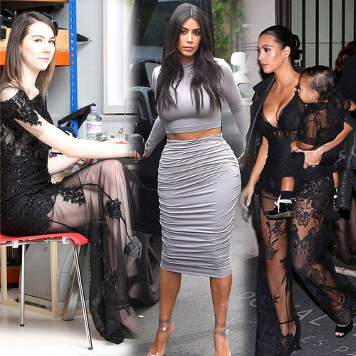 Challenge for Fashion writer to copy Kim, challenge for fashion writer to copy kim,  kim kardashian,  fashion writer steph king,  hollywood gossips,  hollywood news,  ifairer