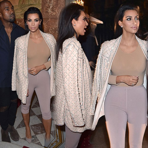 Covered Kim in Nude colored Top, covered kim in nude colored top,  kim kardashian,  hollywood news,  hollywood gossips,  latest news,  ifairer,  nude colored top of kim
