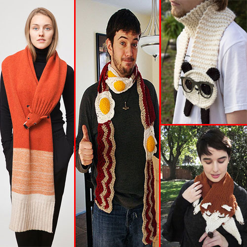 Creative and Fashionable winter scarves, creative and fashionable winter scarves,  fashion,  fashion tips fashion trends,  fashion accessories,  fashion trends 2015,  latest news,  ifairer