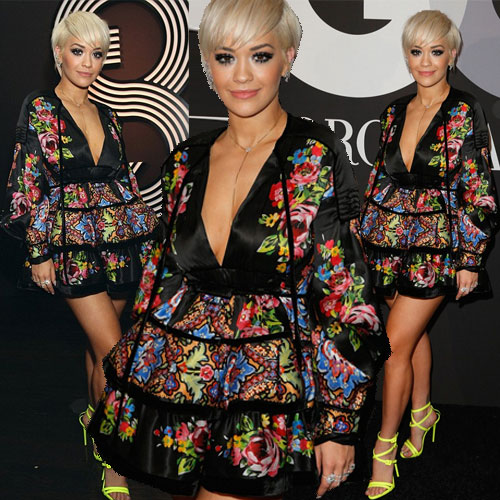Fashionable Rita Ora in neon with floral , fashionable rita ora in neon with floral,  rita ora,  fashion,  fashion tips,  fashion trends,  fashion accessories,  fashion trends 2015,  latest news,  ifairer