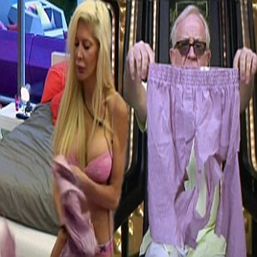 Fight For Underwear In Big Brother House!, big brother house,  underwear,  angelique,  rock of love,  leslie jordan,  frenchy,  housemates,  celebrity at big brother house,  cuts up underwear,  ifairer