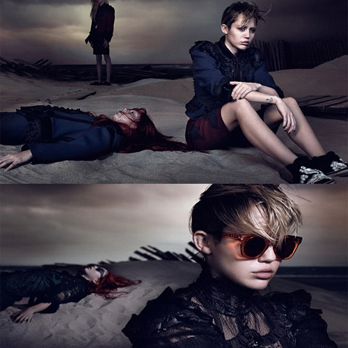 HAVE you seen MILEY this way!!, marc jacobs,  new campaign,  miley cyrus,  miley,  cyrus,  somber attitude,  have you seen miley this way,  label's spring collection,  pouting her lips,  hollywood news,  hollywood gossips,  hollywood stars,  hollywood celebs,  entertainment