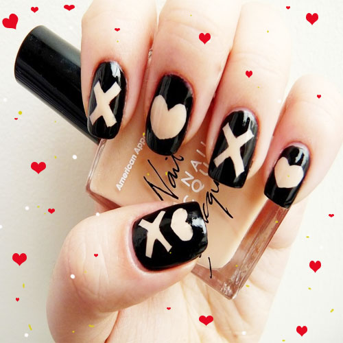 Hug day: 5 KISS AND Hug STYLES on your NAILS.., xoxo,  hugs and kisses,  beauty,  nail arts,  designs of nail arts,  make-up tips,   cutest day of valentine's week,  cutest day,  valentine's week,  cutest nail art,  luv to knock your door,  someone special,  love and romance
