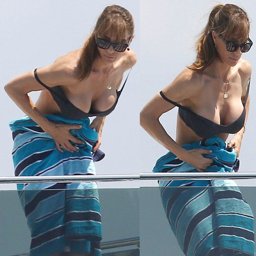 Jennifer Shows Ample Cleavage, jennifer flavin,  model jennifer flavin,  sexy jennifer flavin,  hot jennifer flavin,  jennifer flavin cleavage,  jennifer,  jennifer flavin cleavage on yacht,  jennifer flavin slips swimsuit on yacht,  swimsuit,  hollywood actress jennifer flavin,  hollywood news,  ifairer