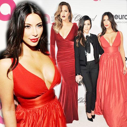 Kardashian sisters rock Oscar-Party! , kardashian sisters at oscar-viewing party,   elton john aids foundation oscar-viewing party 2014,  kim kardashian,  khloe kardashian,  kourtney kardashian,  hollywood,  hollywood gossips,  entertainment