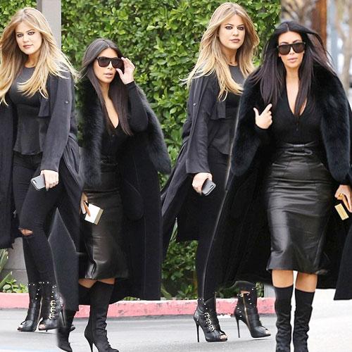 Kardashian Sisters sizzle in black, kardashian sisters sizzles in black,  kim kardashian,  khloe kardashian,  hollywood news,  hollywood gossips,  latest news,  ifairer,  kardashian sisters