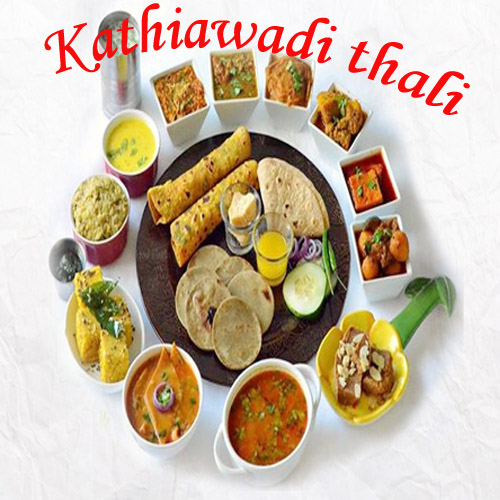 Kathiawadi Thali , kathiawadi thali ,  recepies,  gujrati thali,  main course,  gujrati dishes,  kathiawadi dishes