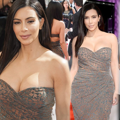 Kim opted cleavage display wrap dress, kim kardashian,  hollywood news,  hollywood gossips,  latest news,  ifairer