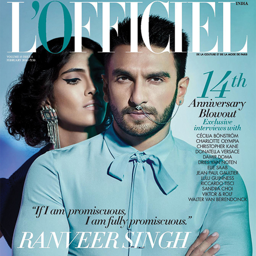 'King Of Hearts' Ranveer Singh wears nose ring for a Photo Shoot, ranveer singh wears nose ring,  ranveer singh lofficiel photoshoot,  ranveer in lofficiel cover page,  ranveer hot fashion shoot,  fashion,  fashion tips,  ifairer