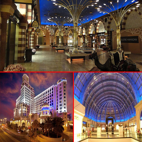 Luxury shopping malls