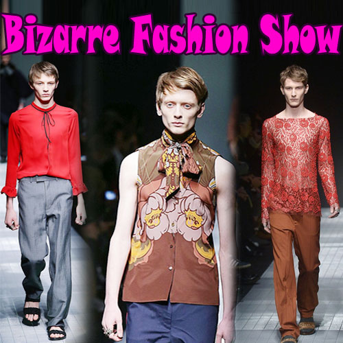 Male models adopted girls Wardrobe in Gucci show