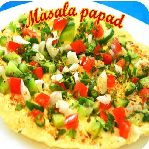 Masala papad recipe, masala papad recipe,  masala papad,  how to make masala papad,  recipe,  recipe for masala papad,  tea time recipes,  ifairer