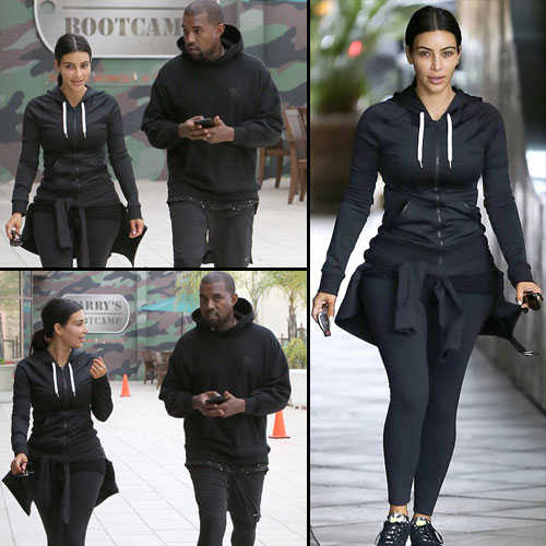 Matching leggings of Kim and Kanye