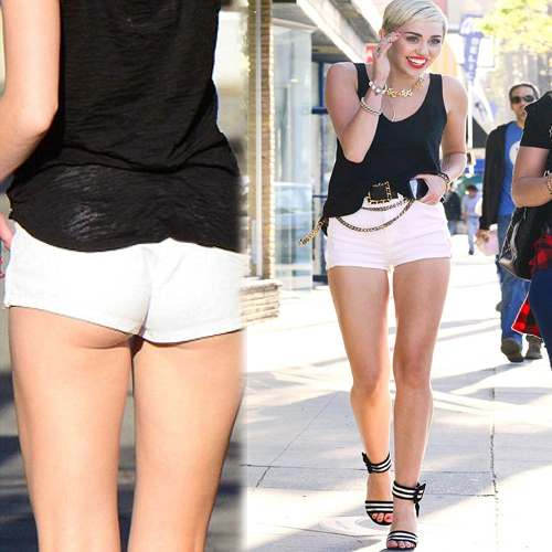 Hotpants get even hotter: celebs style.. Miley Cyrus Slide ...
