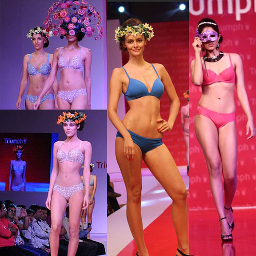 Models sizzles in Sexy Triumph lingerie fashion show, models sizzles in sexy triumph lingerie fashion show,  fashion show at mumbai,  fashion show,  latest news,  fashion,  fashion trends,  fashion show,  fashion trends 2014,  fashion show 2014