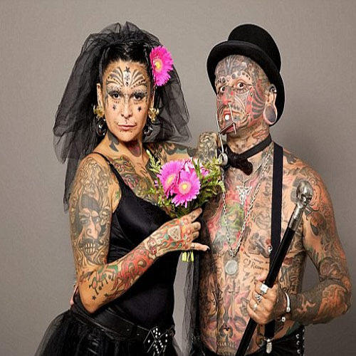 MOST inked COUPLE.., couple,  world,  ink,  tattoo,  body,  body tattoo,  valentine's day,  made in heaven,  match,  couple tattoo,  most inked couple