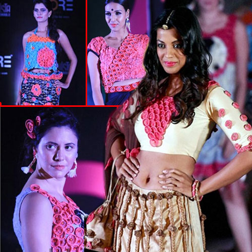 Mugdha sizzles in Condom Dress as a showstopper, mugdha sizzles in condom dress as a showstopper,  mugdha godse,  fashion,  fashion tips,  fashion accessories,  fashion trends,  fashion trends 2015,  latest news,  ifairer,  condom fashion show,  india first condom show