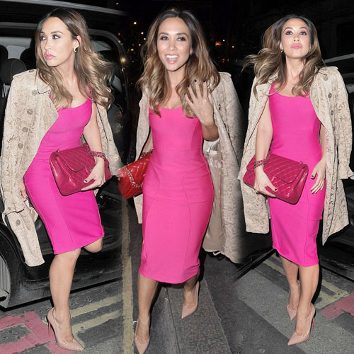 Myleene displays her figure in tight pink, myleene displays her figure in tight pink,  myleene klass,  hollywood news,  hollywood gossips,  latest news