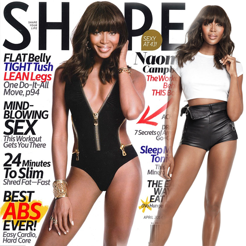 Naomi Campbell covers Shape magazine!! Slide 1, ifairer com