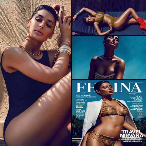Nargis Fakhri's Bold Shoots in Bikini, nargis fakhri bold shoots in bikinis,  nargis is gracing the cover of femina magazine,  nargis fakhri,  bollywood news,  bollywood gossip,  latest bollywood updates,  ifairer