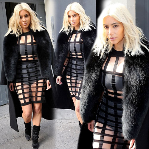 New look of Kim in racy cage dress, new look of kim in racy cage dress,  kim kardashian,  hollywood news,  hollywood gossips,  latest news,  ifairer