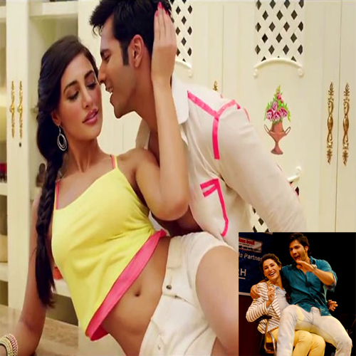 Now Varun gives NARGIS lap dance.., main tera hero,  varun dhawan,  nargis fakri ,  land of roses,  chandigarh,  the hot couple varun and nargis,  balaji motion pictures,  ileana dcruz