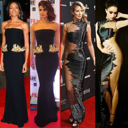 Priyanka,11 others ripping off Costumes, bollywood and hollywood actress priyanka chopra,  priyanka chopra and 11 actresses ripping off hollywood costumes,  bollywood actresses copying styles from hollywood actresses,  bollywood vs hollywood - outfits bollywood copied from hollywood,  bollywood news,  bollywood gossip,  ifairer