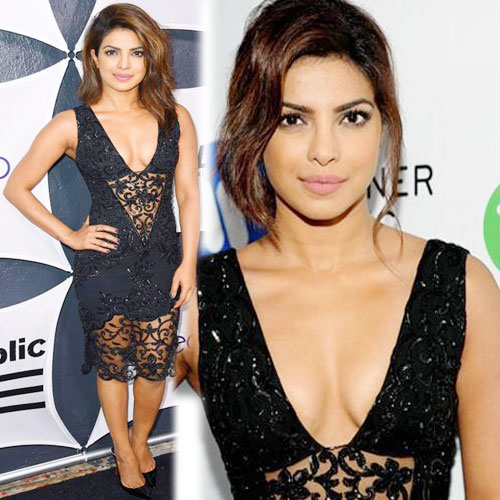 Priyanka's hot looks in black dress, priyanka hot looks in black dress,  priyanka chopra was a head turner in a sensuous black dress,  priyanka chopra,  fashion trends 2015,  fashion trends of priyanka chopra,  ifairer