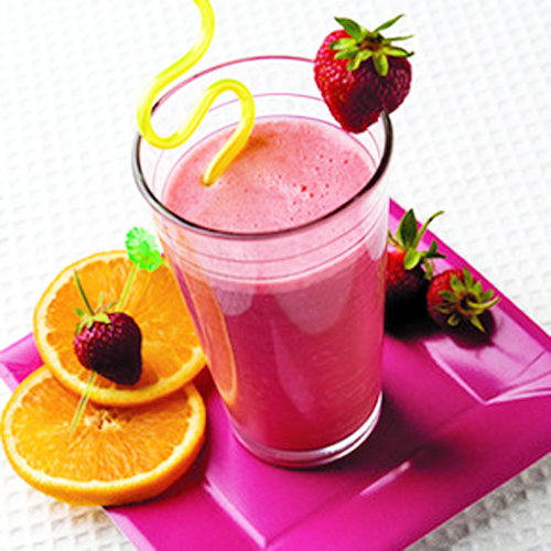 healthy morning fruit smoothies purple fruit