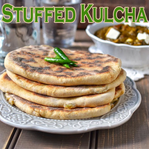 Recipe to make Stuffed Aloo Kulcha, recipe to make stuffed aloo kulcha,  stuffed aloo kulcha