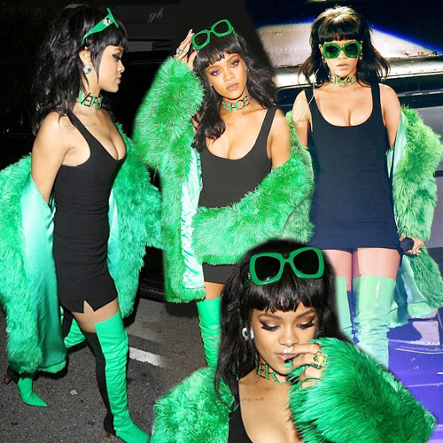 Rihanna wows in bright green fur, rihanna wows in bright green fur,  rihanna,  hollywood news,  hollywood gossips,  latest news,  ifairer