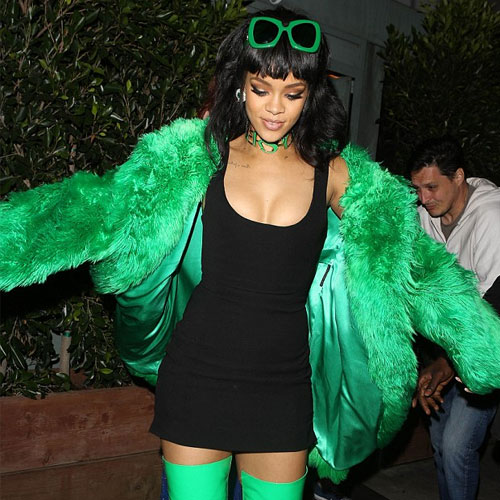 Rihanna wows in bright green fur , rihanna wows in bright green fur,  rihanna,  hollywood news,  hollywood gossips,  latest news,  ifairer