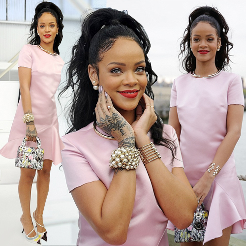 RIRI donned pretty pink @ Dior Cruise FS