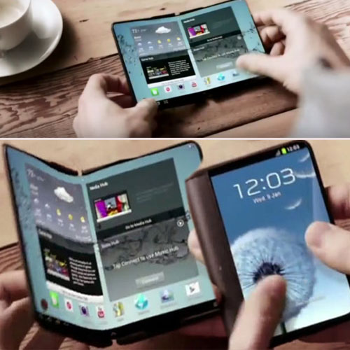 Samsung's first  foldable smartphone soon