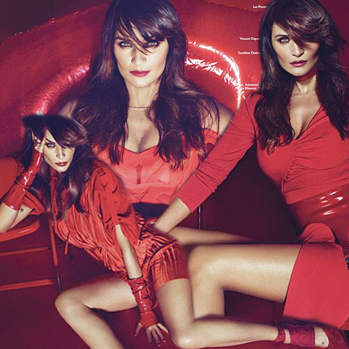 Seductive pose of Helena in red, seductive pose of helena in red,  helena christensen,  mexicos marie claire magazine,  hollywood news,  hollywood gossips,  latest news,  ifairer