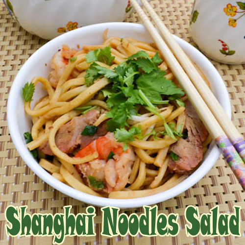 Noodles Salad, shanghai noodles salad, recipe to make shanghai noodles ...