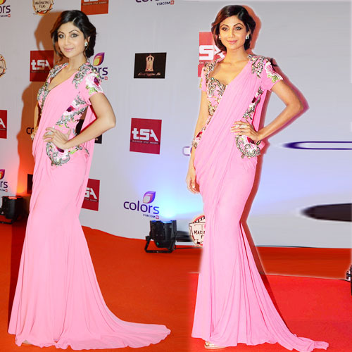 Shilpa Shetty Sizzle in Saree , shilpa shetty sizzle in saree,  shilpa shetty she walked the red carpet,  shilpa shetty,  fashion trends 2015,  fashion trends,  latset fashion trends,  ifairer