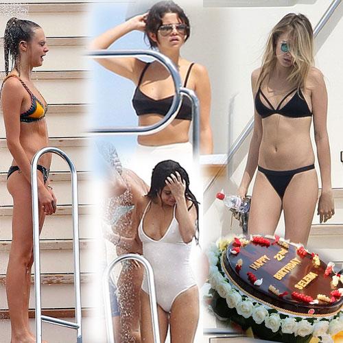 Sizzling Selena and Cara in Bikini, sizzling selena and cara in bikini,  hollywood news,  hollywood gossips,  latest news,  selena gomez,  cara delevingne,  selena gomez and cara delevingne in bikini,  hot selena gomez and cara delevingne