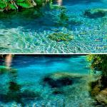 Clearest water lakes in the world, water look-like mirror