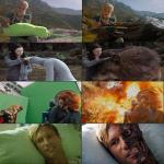 Famous movie scenes before and after visual effects