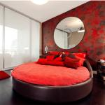 Decorate bedroom with red, good for romance